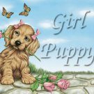 Girl Puppy #PT Personalized Gift First Name Meaning Print