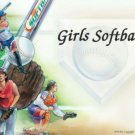 Girls Softballl #PT Personalized Gift First Name Meaning Print