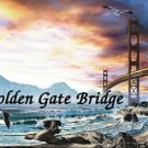 Golden Gate Bridge #PT Personalized Gift First Name Meaning Print