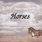 Horses #PT Personalized Gift First Name Meaning Print