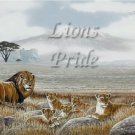 Lions Pride #PT Personalized Gift First Name Meaning Print