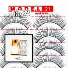 False Fake Eye Lashes Style No. 24 - 10 Pairs of 100% Human Hair Lashes with tube of Glue
