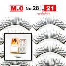 False Fake Eye Lashes Style No. 28 - 10 Pairs of 100% Human Hair Lashes with tube of Glue