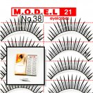 False Fake Eye Lashes Style No. 38 - 10 Pairs of 100% Human Hair Lashes with tube of Glue