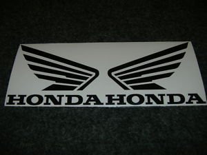 HONDA 919 929 954 996 CB CBR CBRR CR XL XR  FUEL TANK  WING DECALS BLACK425