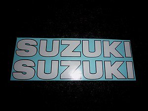 SUZUKI GSX-R GSX-F KATANA BANDIT GS RM-Z DS DR SP TS  DECALS WHITE BLACK TRIM190