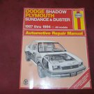 DODGE SHADOW HAYNES MANUAL 1987 1988 1989 1990 1991 1992 1993 1994