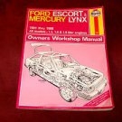 FORD ESCORT MERCURY LYNX CHILTONS MANUAL 1981 1982 1983 1984 1985 1986 1987 1988