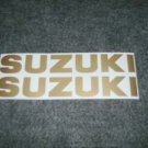 SUZUKI 9.9 115 140 125 BOAT MOTOR DECALS OUT BOARD DECALS GOLD834