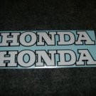 HONDA CB CL CJ CBR CBR-RR CR MR MT SL XL XR  FUEL TANK DECALSWHITE  BLACK TRIM7