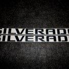 Chevrolet SILVERADO NAME Decal Sticker MATTE BLACK