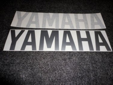 YAMAHA BOAT MOTOR DECALS OUT BOARD DECALS SILVER12