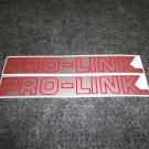 HONDA CR,XL,XR,CBRR PRO-LINK SWING ARM DECAL SILVER RED TRIM SM6