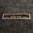 HONDA CR-500R 2014 MODEL TAG HONDA MOTOR CO., LTD. DECALS