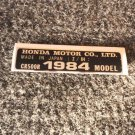 HONDA CR-500R 1984 MODEL TAG HONDA MOTOR CO., LTD. DECALS