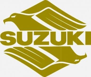 SUZUKI SAVAGE INTRUDER GSXR GSX-F KATANA BANDIT GS  DR DR-Z TANK DECALS GOLD234