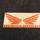 HONDA CB CBR CBRR 919 929 954 996 CR XL XR SHADOW FUEL TANK WING DECALS ORANG334