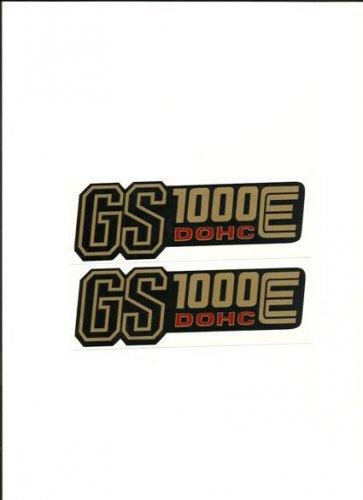 SUZUKI 1978 1979 GS1000E SIDE COVER DECAL GOLD