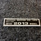 HONDA CRF-450X 2013 MODEL TAG HONDA MOTOR CO., LTD. DECALS