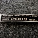 HONDA CRF-450X 2009 MODEL TAG HONDA MOTOR CO., LTD. DECALS