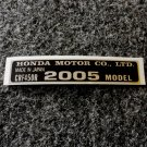 HONDA CRF-450R 2005 MODEL TAG HONDA MOTOR CO., LTD. DECALS