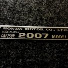 HONDA CRF-250R 2007 MODEL TAG HONDA MOTOR CO., LTD. DECAL