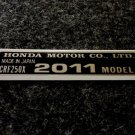 HONDA CRF-250X 2011 MODEL TAG HONDA MOTOR CO., LTD. DECALS