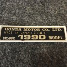 HONDA CR-500R 1990 MODEL TAG HONDA MOTOR CO., LTD. DECALS