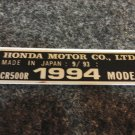 HONDA CR-500R 1994 MODEL TAG HONDA MOTOR CO., LTD. DECALS