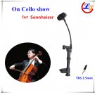 Lapel Condenser Viola Violin Microphone Instrument Mic for Sennheiser Wireless System TRS 3.5mm