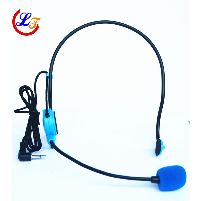 Professional Blue Wired Microphone Headset Microfone for Voice Amplifier Speaker Mike