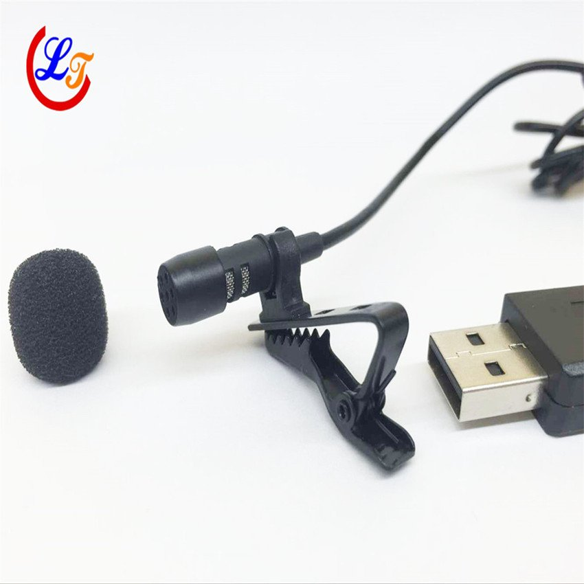 Professional Lapel Mini Condenser Microphone USB Lavalier Microfone for Computer PC Laptop