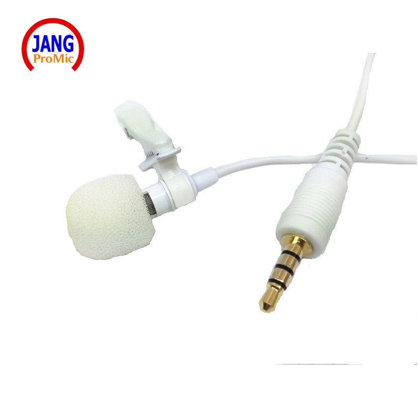 Lapel White Mobile Phone Microphone Condenser  Stereo Microfone for iPhone Samsung Most Phone