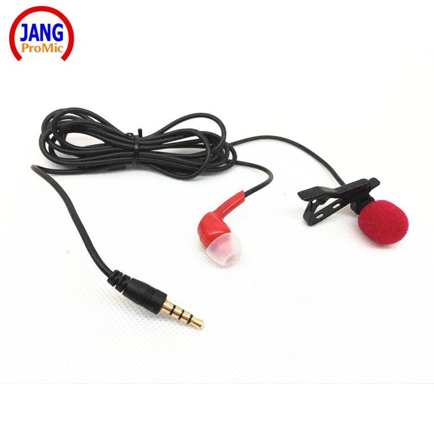 Professional Lavalier Mobile Phone Microphone with Earphone Recording Microfone for iPhone etc Phone