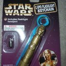 Star Wars C3PO Flashlight Keychain   1997 Tiger Electronics