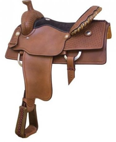 "Billy Cook 16"" Blackland Roping Saddle"