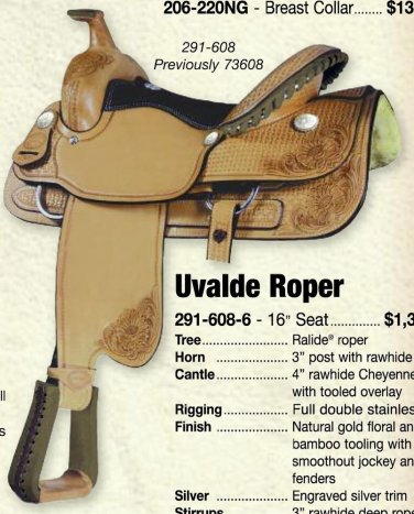 "Billy Cook 16"" Uvalde Roping Saddle"