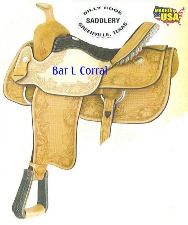 """Billy Cook Sweetwater Roping Saddle 17"""" Clearance $"""