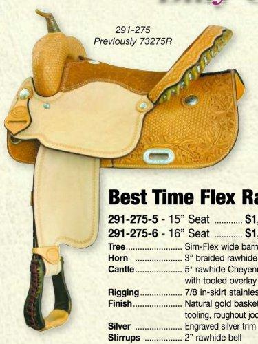 """Billy Cook Best Time Flex Barrel Racer 15"""" or 16"""" Saddle"""