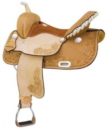 Billy Cook Tyler Rose Barrel Saddle 15""