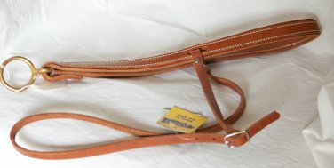 New harness leather roping nose band