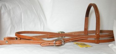 New harness leather browband headstall