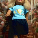 Retired Tolly Tots 18 inch doll with roller skates