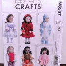 DOLL CLOTHES PATTERN THAT FITS 18 INCH AMERICAN GIRL DOLLS-McCALLS #M6257