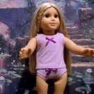 LAVENDER POLKA DOTTED CAMISOLE SET FOR AMERICAN GIRL 18 INCH DOLLS