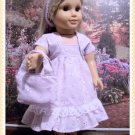 FOR AMERICAN GIRL 18 INCH DOLLS-LAVENDER EASTER DRESS SET