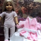 FOR AMERICAN GIRL 18 INCH DOLLS-PRINCESS ROBE AND PJ SET