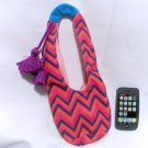 FOR AMERICAN GIRL 18 INCH DOLLS-CHEVRON HOBO PURSE AND i PHONE