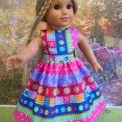 Tutti Fruitti Spring Dress for American Girl 18 inch Dolls