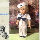 FOR AMERICAN GIRL 18 INCH DOLLS-STYLISH SAILOR OUTFIT